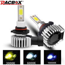 RACBOX 2pcs H4 H1 H3 H7 H11 H8 H9 9005 HB3 9006 HB4 Led Headlight Bulbs 72W 8000LM Car Styling 3000K 6000K 10000K Led Automobile(China)