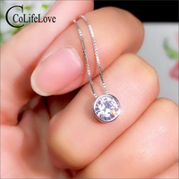CoLife Jewelry Fashion Moissanite Pendant for Young Girl 1ct D Color VVS1 Grade Moissanite Silver Pendant 925 Silver Jewelry