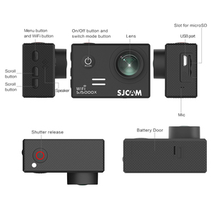 Image 4 - الأصلي SJCAM SJ5000X النخبة الدوران الرياضة عمل كاميرا واي فاي 4K 24fps 2K 30fps الغوص 30 متر مقاوم للماء NTK96660 SJ CAM 5000 سيارة DV