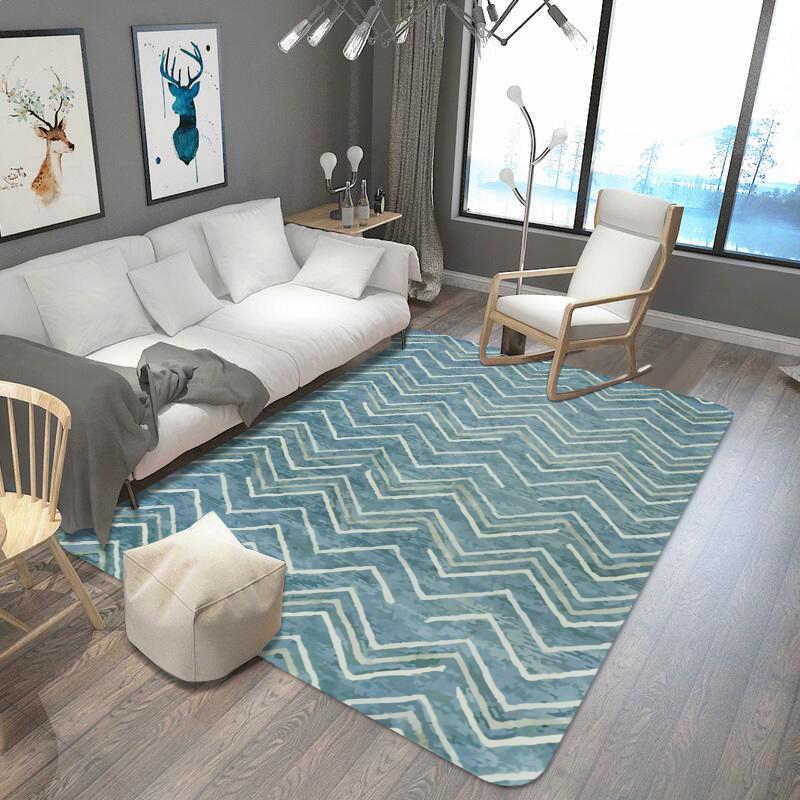 White Stripes Carpets For Living Room