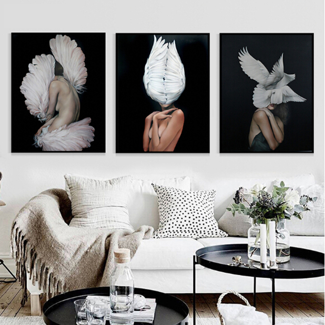 Modern A4 large poster Sexy woman body abstract art canvas poster decorative painting Nordic home decor wall painting poster