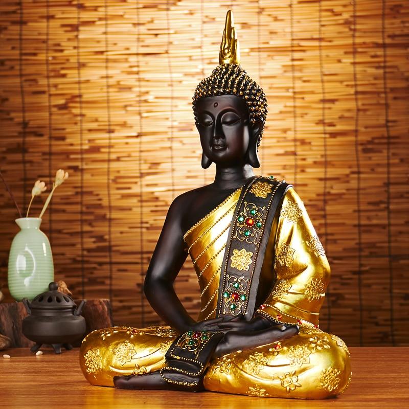 Wholesale Buddhist supplies home family Bless Safe good luck Buddha Southeast Asia Sitting Buddha art statue