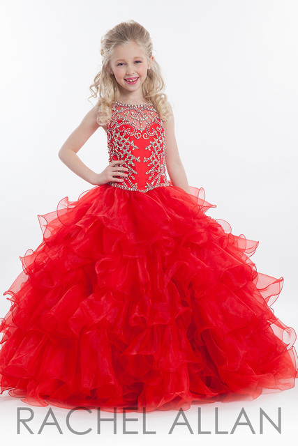 Pageant Dresses For Little Girls Ball Gown Tulle Cascading Kids