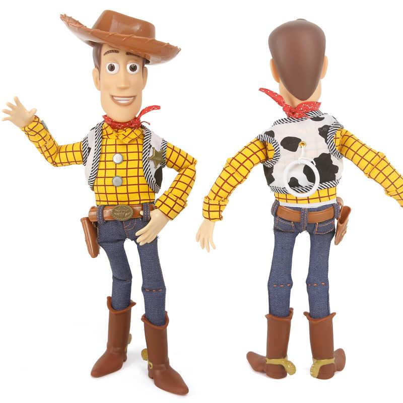 16 disney disney disney pixar brinquedo história 4 falando woody jessie buzz lightyear bo peep boneca figuras de ação collectible modelo de brinquedo para crianças
