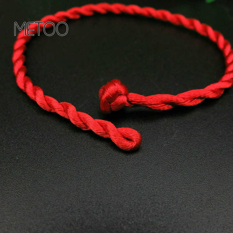 1PC מכירה לוהטת 2019 אופנה אדום חוט מחרוזת צמיד מזל אדום ירוק בעבודת יד חבל צמיד לנשים גברים תכשיטי מאהב זוג