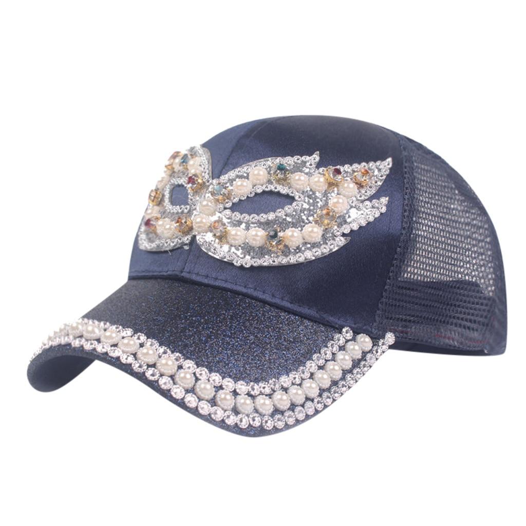 Винтажная Женская кепка в стиле унисекс маска со стразами шляпа джинсовая кепка модная кепка-бейсболка Topee Gorras Para Hombre для Chapeau# LR1