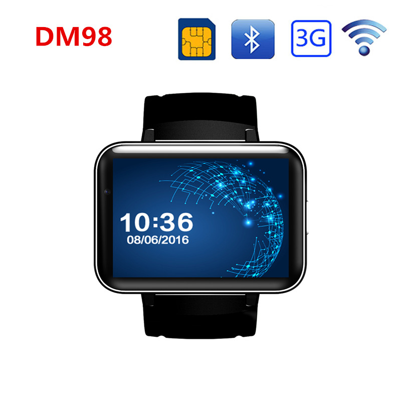 Dm98 Bluetooth Smart Watch Wifi Gps 3G Smart Phone 512MB+4GB Watches Support Sim Card HD Screen support hebrew Arabic цены