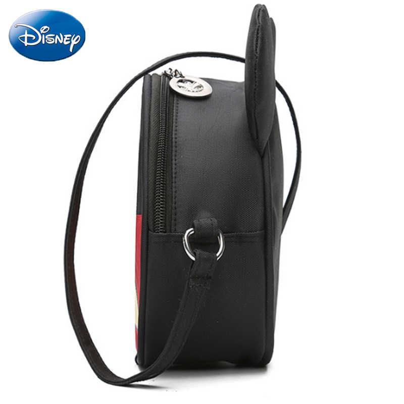 24c3a60a80 ... Disney Mickey Minnie Mouse Bowknot Backpack Children s Messenger Bags  Chest Coin Purse Kids Backpacks Cartoon Kindergarten ...