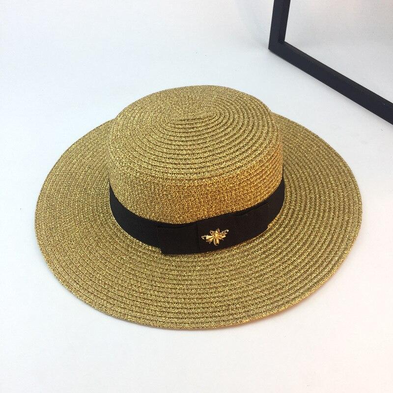 Handmade Weave 100%Raffia Sun Hats For Women Black Beach Hat Up Large Brim Straw Hat Outdoor Beach Summer Caps Chapeu Feminino