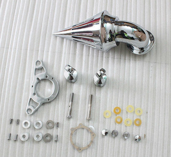 Motorcycle Chrome Spike Air Cleaner Kits Intake Filter For Harley EFI Softail Dyna Touri ...