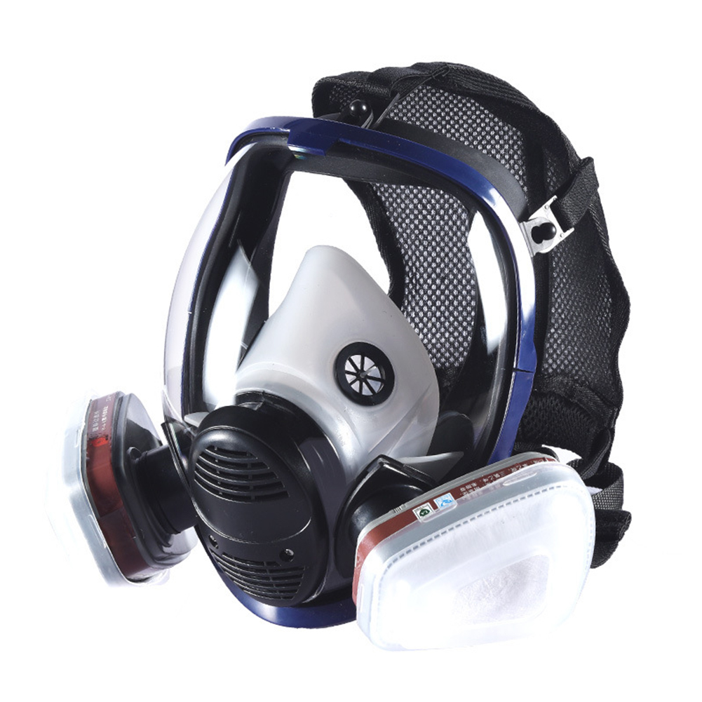 Anti-dust Anti Ammonia Gas Safety Mask Full Facepiece Respirator Gas Mask With Filter For Industry Painting Spraying Chemical Respirators