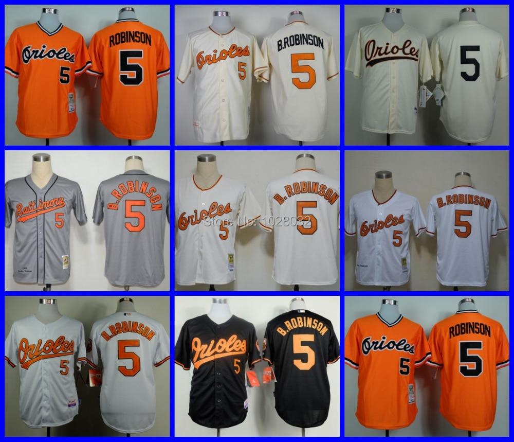7357bb114c6 ... good baltimore orioles throwback jersey 5 brooks robinson jersey jersey  whiteorangecream . 3fcaa 76369