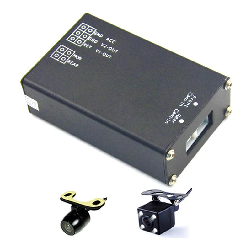 Caja de control de interruptor de imagen de cámaras múltiples para - Electrónica del Automóvil