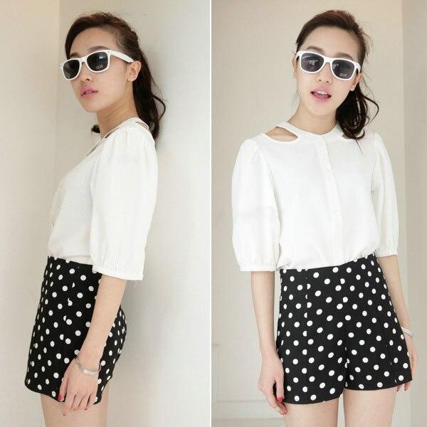 Online Shop Fashion Women's Polka Dot High Waist Casual Summer ...
