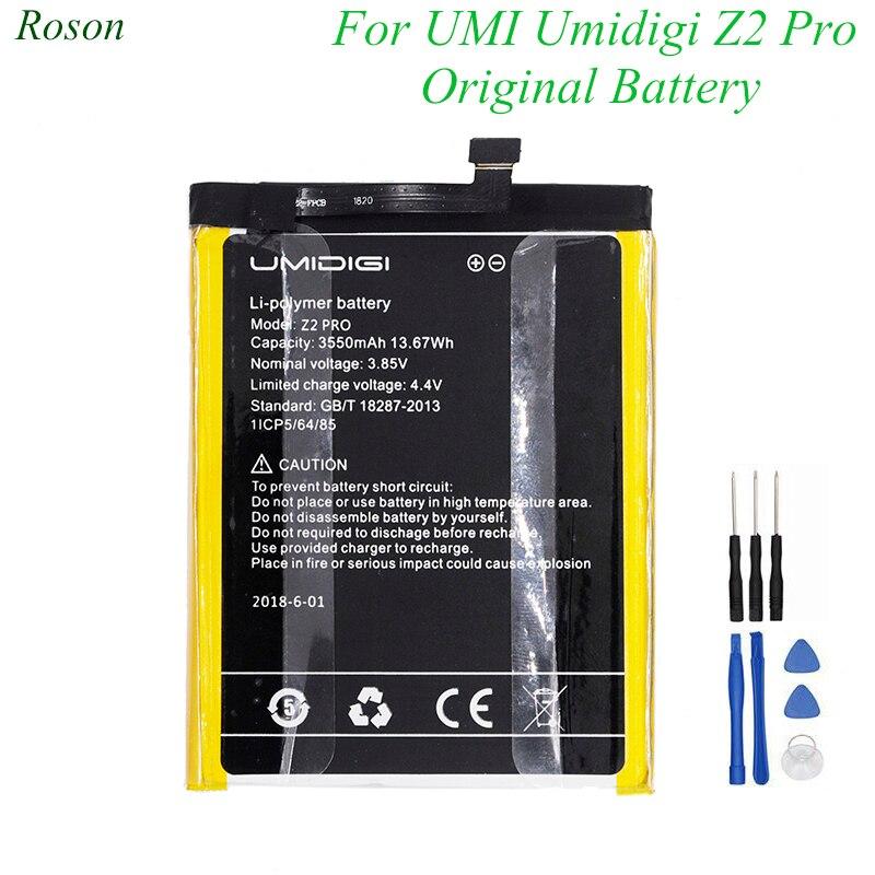 Roson para UMI Umidigi Z2 Pro Bateria 3550 mah 100% Novo Peças de Reposição Acessório Do Telefone Acumuladores Com Ferramentas