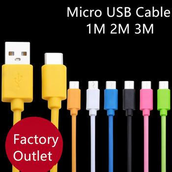 Kabel Micro USB 1 m 2 m 3 m szybkie ładowanie ładowarka kabel Microusb dla Samsung Xiaomi HTC LG Android telefon komórkowy tablety przewód tanie i dobre opinie acgicea 2 4A CN (pochodzenie) USB A Chowany 1M 2M 3M Nylon Braided Micro USB Cable Micro Cable For Samsung S6 S7 S5 S4 Note 4 5