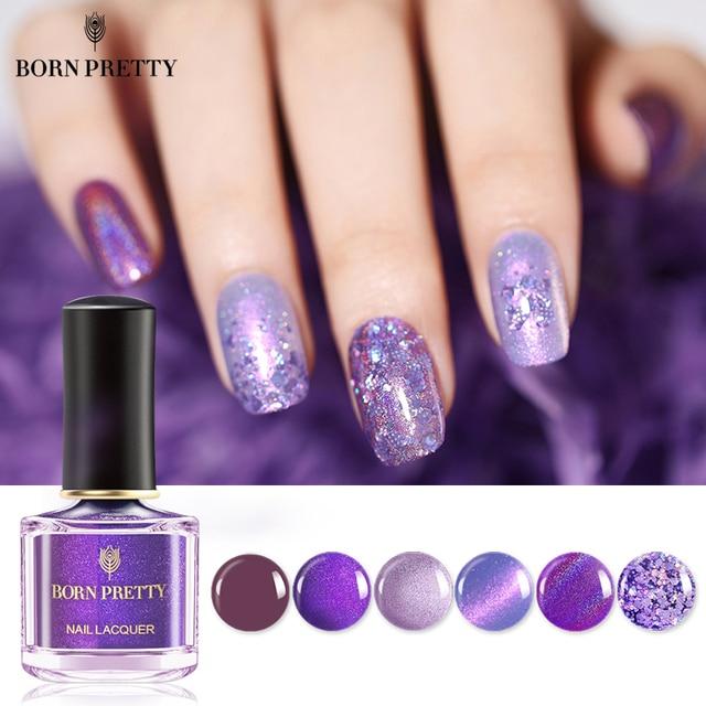 Aliexpress Buy Born Pretty Purple Series Nail Polish 6ml Holo