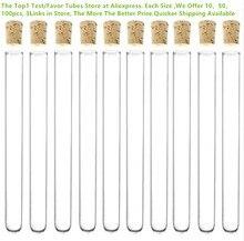 100 шт./лот 16x150 мм пластиковая пробирка с пробкой 20 мл 6 дюймовая прозрачная Свадебная трубка подарочная упаковка, все размеры в продаже, как показано ниже