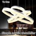 Free envio gratuito de atacado design moderno 4 anéis lustre de acrílico led luz de teto lâmpadas de teto para sala de estar