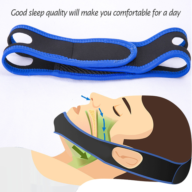 CPAP Anti Snoring snore chin strap Snoring Remedy Relieve Sleep Apnea Care Health Tools Stretchable Strap Stop Snoring Aid Belt 6