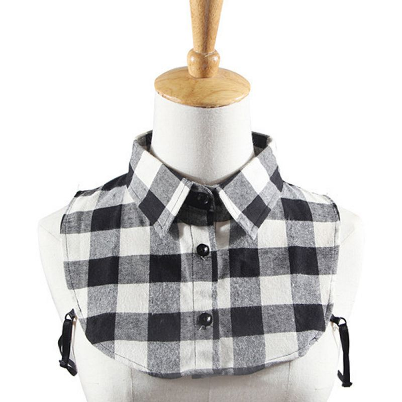 Clever 6 Styles Women Half Shirt Fake Collar Plaid Pattern Detachable Blouse Tops Lapel Collars Clear-Cut Texture Blouses & Shirts
