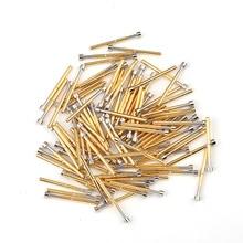 цена на Hot Sale Crown Needle Test Probe P156-G Nickel-plated Test Pin Spring Thimble Length 34mm G Electronic Tool Metal Probe