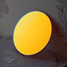 Orange Mirror Lenses Sunglasses 75mm Flat Round EXIA OPTICAL A22 Series