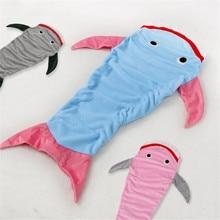 Coral Fleece Cute Cozy Mermaid Tail Blanket Kid Super Soft Plush Cocoon Shark Sleeping Bags Bed Wrap Boys Girls Children Custome