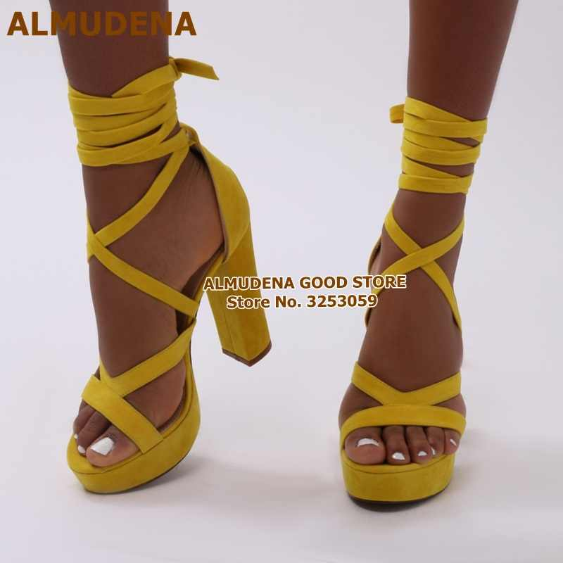 ALMUDENA Top Quality Yellow Suede