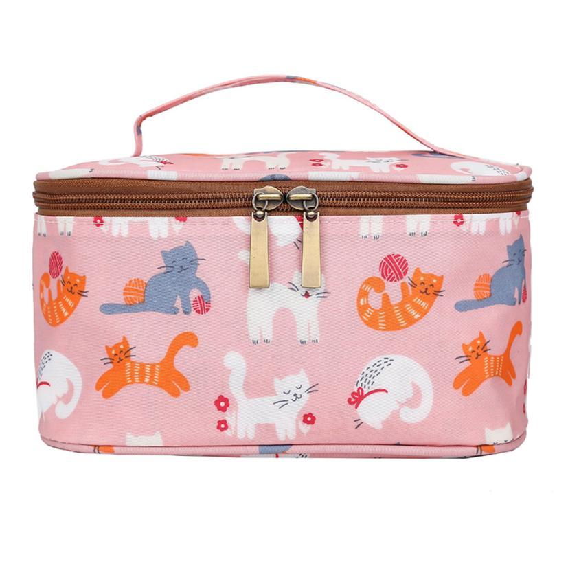 New Arrival Women Fashion Printing Nylon Waterproof Handbag Ladies Trend Zipper Coin Bag Floral Totes bag for women 2018 bolsa S