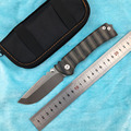 Nighthawk custom bearing folding knife S35VN blade titanium alloy handle camping outdoor fruit knife EDC tool