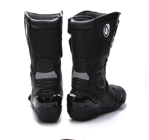 Image 4 - how yes ARCX men motorcycle boots professional motorcross racing boots windproof shoes free shipping  black color