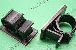 100 PCS LY 2225 Plastic Cable Tie Mounts Cable Saddle self ...