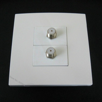 Cheap Cost Televison Cable Socket Digital TV Jack Wall Plate White Color Home Socket With 2