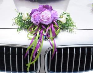 Image 5 - Kyunovia Wedding Car Accessory Car Roof Tail Simulation Decoration Wedding Car Decoration Flower KY131