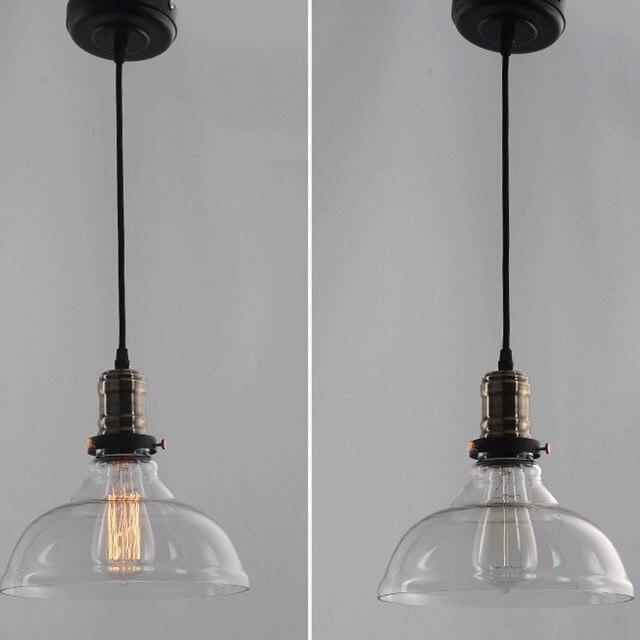 E27 40 W 25 cm Diamètre Vintage Industrielle Verre Pédant Lumière ...