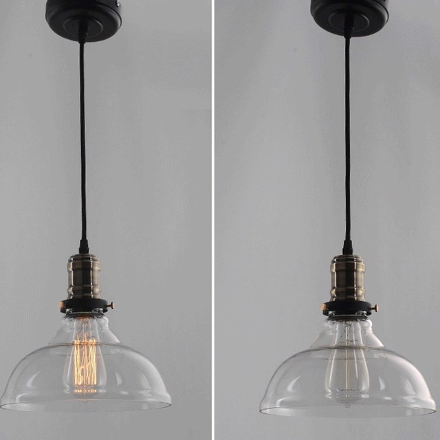 E27 40 Watt 25 Cm Durchmesser Jahrgang Industrielle Glass Pedant Licht  Lampe Windmühle Kronleuchter Lampenschirm