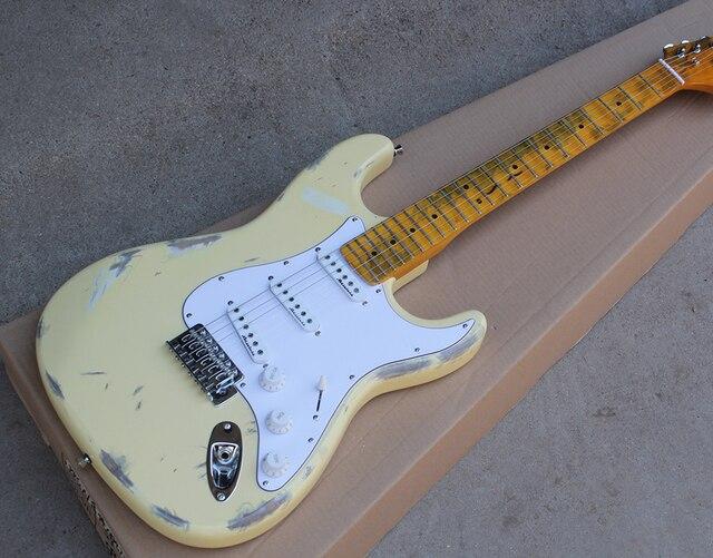 Factory Custom Milch Weiß Retro Körper Elektrische Gitarre mit Retro ...