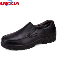 Middle Old Aged Flats Handsome Loafers Fathers Dress Shoes Men Round Toe Formal Casual Oxford Office
