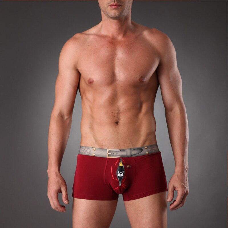 EXILIENS Brand New Mens intimo Boxer modale Homme Boxer horts uomo Boxer Sexy mutande maschili stampa Cartoon taglia M-3XL 093001 2