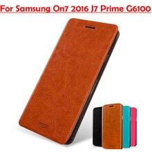 MOFI для Samsung Galaxy ON7 2016 случае роскошный Флип кожаный чехол для Samsung Galaxy ON7 (2016) G6100 J7 Prime 5.5 «телефон сумка
