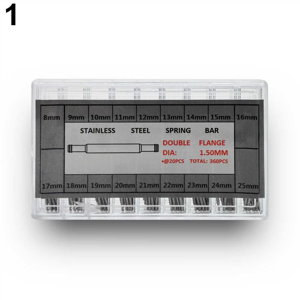 360 Pcs 6-25mm Rvs Horloge Lente Bars Band Link Splitpennen Tool