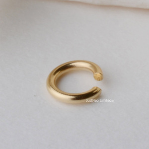 Solid 18k Karat Yellow Gold Open Jump Ring 4mm Au750 18ct Circle Split Ring for Necklace Jewelry Findings and Components(China)