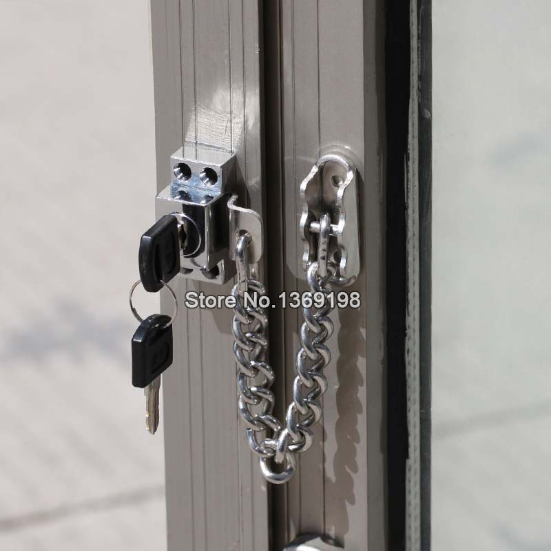 HOT Stainless Steel Window Guard Window Door Restrictor Child Safety Security Chain Lock Children Security Locks With Keys P181 rebecca minkoff топ без рукавов