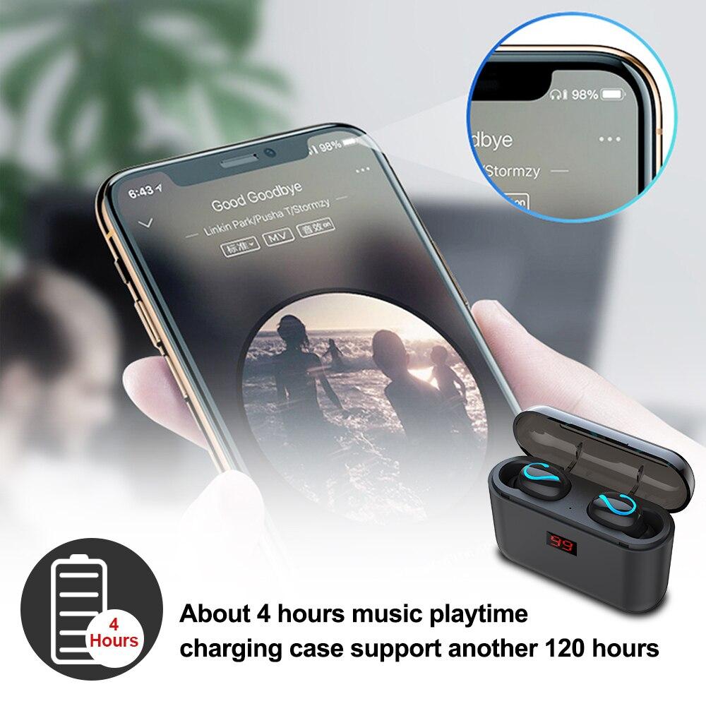 Image 3 - ALWUP Bluetooth 5,0 наушники TWS беспроводные наушники Blutooth наушники True беспроводные стерео наушники спортивные наушники HBQ Q32-in Наушники и гарнитуры from Бытовая электроника