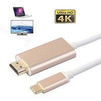 2017 Vendita Calda USB 3.1 Tipo C A HDMI Adapter 4 K USB C A HDMI 2.0 Maschio Cavo Convertitore Per Macbook Chromebook Pixel Samsung S8
