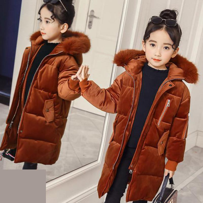 2018 Girls Winter Coat Kids Jackets Hooded Outerwear Enfant Baby Clothes Cotton Down Parkas Children Clothing Winterjas Meisjes baby girls jackets 2018 winter jacket for girls winter coat kids clothes children warm hooded outerwear coats winterjas meisjes