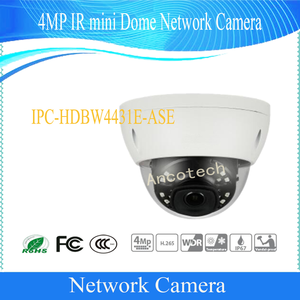 Free Shipping DAHUA Security IP Camera 4MP IR mini Dome Network Camera IP67 IK10 With POE without Logo IPC-HDBW4431E-ASE free shipping dh security ip camera 2mp 1080p ir mini dome network camera ip67 ik10 with poe without logo ipc hdbw4231f as