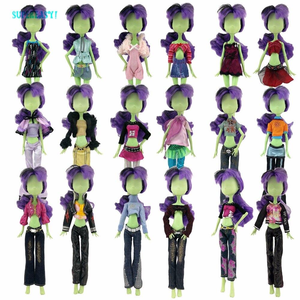 Случайно Палочки 5 компл. ручной партия кукла платье Блузка Костюмы одежда платье для Monster высота куклы Детские Рождественский подарок для д... ...