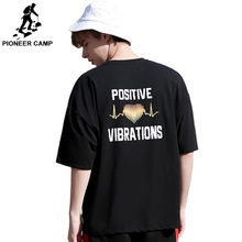 Pioneer Camp Summer Printed Letter Men T Shirt Loose Hip Hop Tee Homme Fashion Streetwear loose big t  ADT906166